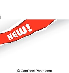 הודעה, של, חדש, פריטים, (red)