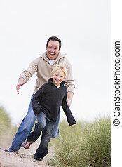 החף, לרוץ, אבא, לחייך, ילד