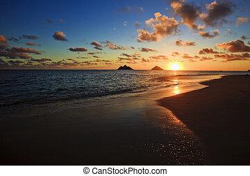 החף, עלית שמש, lanikai, הוואי, פציפי