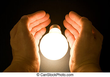 העבר, ו, a, אור מואר, נורת חשמל