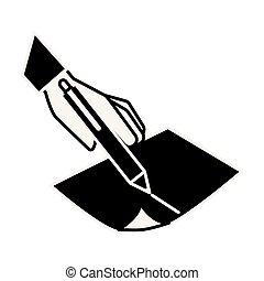 העבר, כתוב, נייר, להחזיק, לכתוב