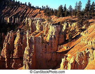 הצבע, בריך, פאירילאנד, canyon.