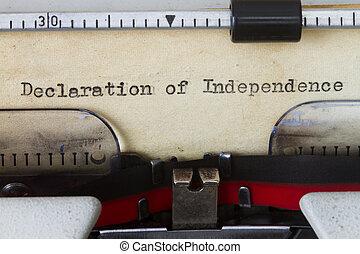 הצהרה של עצמאות