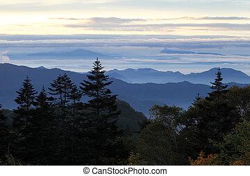 הרים כחולים, רכס, בוקר