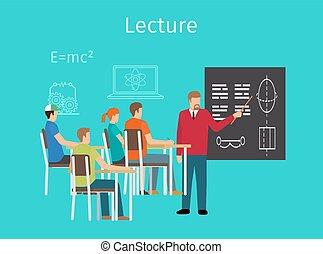 הרצאות, מושג, חינוך, ללמוד, איקון