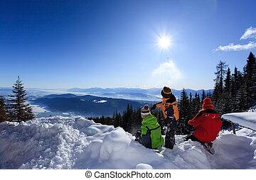 הר, ילדים, השלג