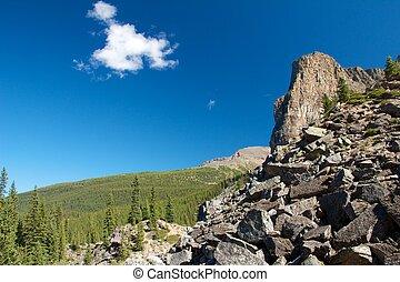 הר, סלעי, ענן