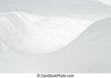 השלג, טקסטורה
