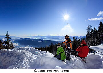 השלג, ילדים, הר
