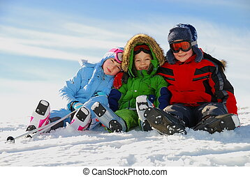 השלג, ילדים