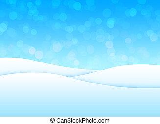השלג נוף
