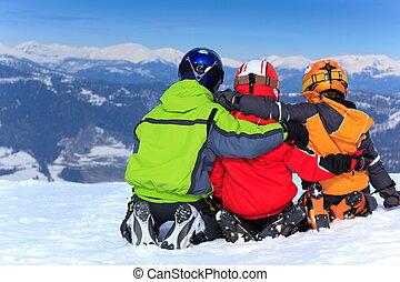 השלג, פיסגת הר, ילדים