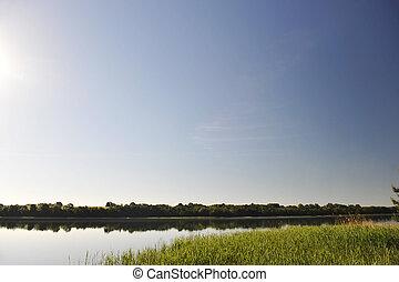 השקה, דממה, אגם