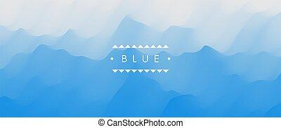 השקה, תקציר, כחול, דוגמה, וקטור, surface., רקע., design.