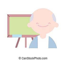 השקע, מורה, לוח לגיר, חינוך, סוג, בית ספר