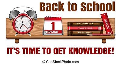 השקע, card., זמן, school., יום, ידע