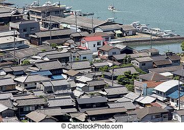 השקפה של עיר, של, עירוני, כפר