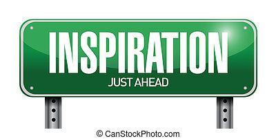 השראה, דרך, דוגמה, חתום