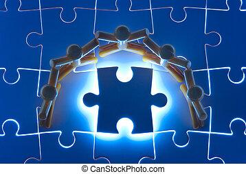 התחבר עבודה, ב, לפתור, בלבל, בעיה