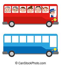 ה, דוגמה, של, a, אוטובוס