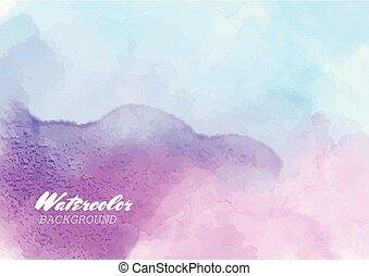 וואטארכולור, צבע רקע