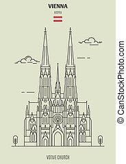 ווטיו, כנסייה, ב, ויאנה, austria., ציון דרך, איקון
