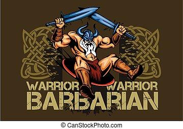 ויקינג, חרבות, שני, norseman, ציור היתולי, קמיע