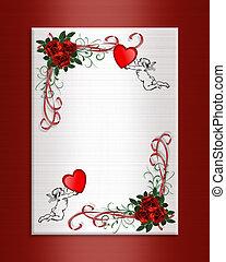 ולנטיין, רקע, לבבות, ורדים