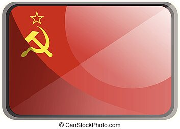 וקטור, דוגמה, רקע., דגלל, ברית המועצות, לבן
