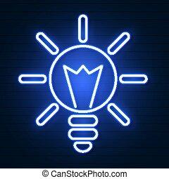 וקטור, דוגמה, של אור, נורת חשמל, ו, רעיון, concept.