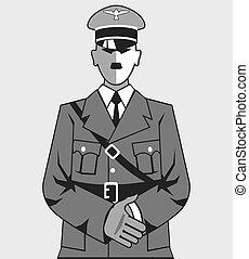 וקטור, הקל, ציור היתולי, היטלר