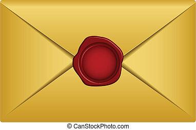 וקטור, זהב, מכתב