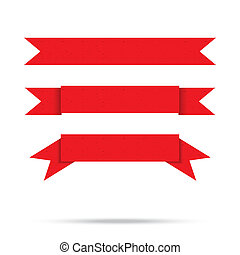 וקטור, ישן, בציר, הפרד, כנה, נייר, סרט, פופולרי, דגל, אדום