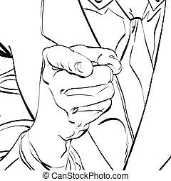 וקטור, להצביע אצבע
