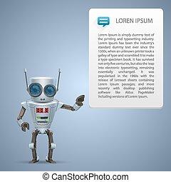 וקטור, מתכת, רובוט, מודעה