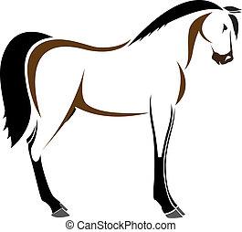 וקטור, ראש של, סוס