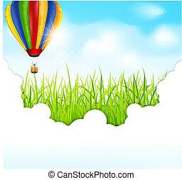 וקטור, רקע ירוק, דשא