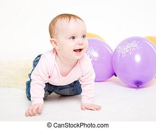 ורוד, ג'קט, ילדה, eight-monthly