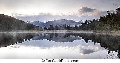 זאילאנד, refection, שמיים, אגם, בוקר, חדש, עלית שמש, הבט