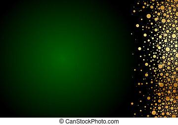 זהב, ירוק, מותרות, רקע
