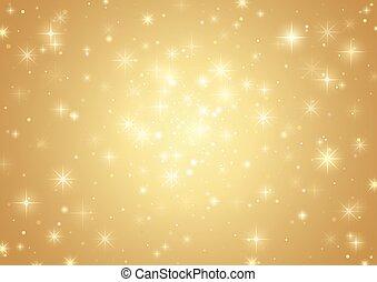 זהב, רקע, כוכבים