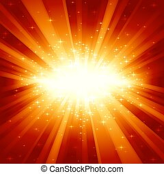 זהוב, אור, אדום, כוכבים, התפוצץ