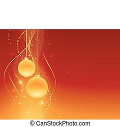 זהוב, חגיגי, חג המולד, רקע, אדום