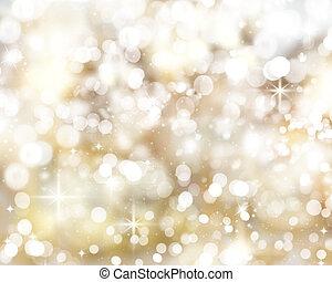 זהוב, חג המולד, רקע, אורות