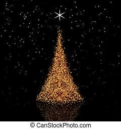 זהוב, עץ של חג ההמולד