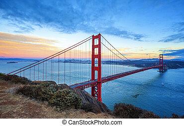 זהוב, פרנסיסקו, סן, מפורסם, שער, גשור