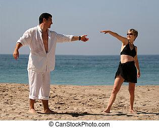 זוג צעיר רוקד