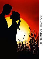 זוג רומנטי
