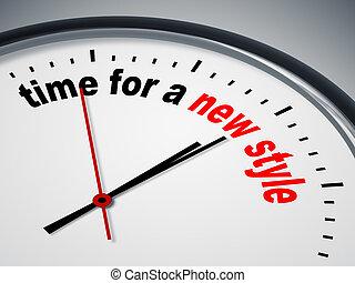 זמן, ל, a, חדש, סיגנון
