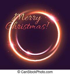 חג המולד קל, כרטיס של דש, של, ראש שנה, חופשה